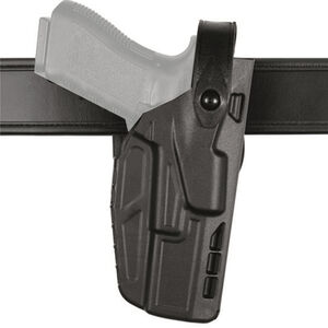 Safariland 7280 7TS SLS Mid-Ride Duty Belt Holster Fits SIG P320 Full Size with Light Right Hand SafariSeven Hi-Gloss Black
