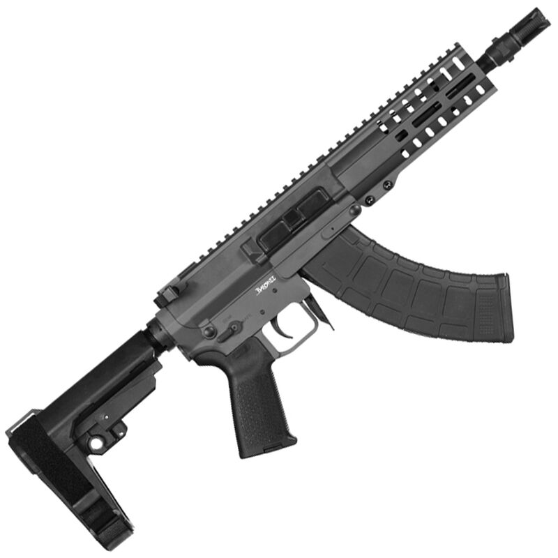 "CMMG Banshee 300 Mk47 7.62x39mm AR-15 Semi Auto Pistol 8"" Barrel 30 Round AK-47 Magazine RML6 M-LOK Handguard CMMG Standard RipBrace Sniper Grey Finish"