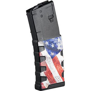 Mission First Tactical Extreme Duty AR-15 Magazine .223 Rem/5.56 NATO 30 Rounds Polymer Black with American Flag