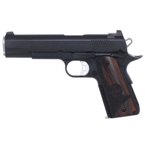 """Dan Wesson 1911 Vigil Semi Auto Pistol 9mm Luger 5"""" Barrel 9 Rounds Fixed Front Night Sight/Tactical Rear Sight Wood Grips Forged Aluminum Frame Matte Black Finish"""