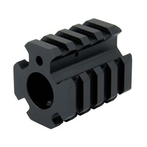TacFire AR .750 Low Pro Quad Rail Gas Block Aluminum Black MAR004