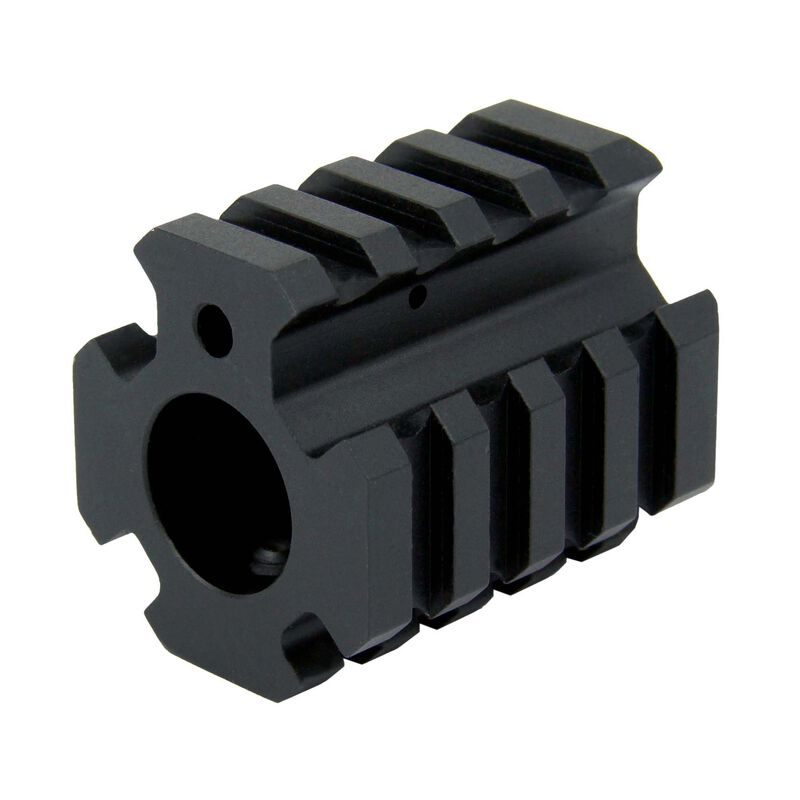 TacFire AR .750 Low Pro Quad Rail Gas Block Aluminum Black MAR004