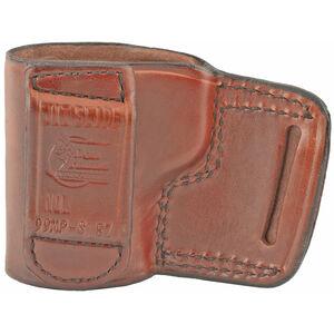 Don Hume J.I.T. Slide Holster fits S&W M&P Shield EZ 2.0 9MM Right Hand Belt Slide Leather Saddle Brown