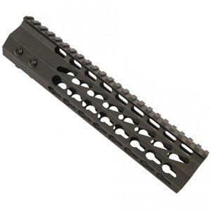 "Guntec AR-15 9"" Ultra Slimline Octagonal 5 Sided KeyMod Free Floating Handguard with Monolithic Top Rail Aluminum Black"
