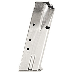 Mec-Gar Browning Hi-Power Magazine 9mm Luger 13 Rounds Steel Nickel MGBRHP13N