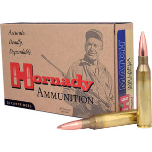 Hornady Match .338 Lapua Magnum Ammunition 20 Rounds BTHP 250 Grains 8230