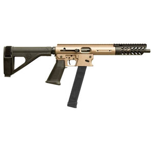 "TNW Aero Survival Pistol 9mm Luger Semi Auto Pistol 10.25"" Barrel 33 Rounds GLOCK Style Magazine Free Float Hand Guard Pistol Stabilizing Brace Flat Dark Earth"