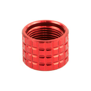 Backup Tactical 1/2x28 Thread Protector .223 Remington Aluminum Frag Red
