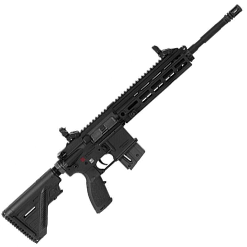 """HK USA HK416 Semi Automatic Rifle .22 Long Rifle 16.1"""" Barrel 10 Round Magazine Aluminum M-LOK Rail Polymer Flip Up Sights Matte Black Finish"""