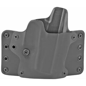 """BlackPoint Tactical Leather WING OWB Belt Slide Holster fits S&W M&P 9/40 Compact M2.0 with 4"""" Barrel Right Hand Leather/Kydex Hybrid Black"""