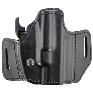Bianchi 126GLS Assent Holster fits GLOCK 17 and Similar Right Hand Belt Slide Plain Leather with Laminate Liner Black