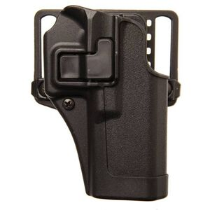 "BLACKHAWK! SERPA CQC Concealment OWB Paddle/Belt Loop Holster Taurus Judge with 2.5"" Cylinder Right Hand Polymer Matte Black Finish"