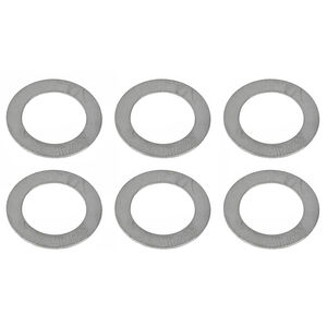 Advanced Armament Corporation 5.56 NATO 1/2x28 Shim Kit Metal Washer 6 Pack Natural Finish