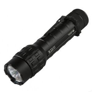 5.11 Tactical TMT R1 Flashlight 339 Lumen LED Rechargeable Li-Ion/CR123A Batteries Tail Cap Switch Aluminum Body Black 53029
