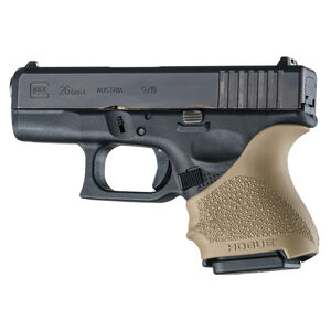 Hogue Handall Beavertail Slip-On Grip Sleeve GLOCK 26/27/33 Flat Dark Earth