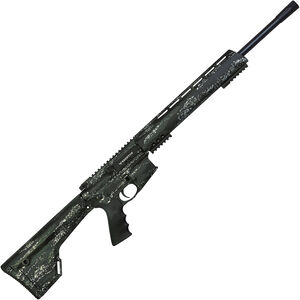"Brenton USA Ranger Carbon Hunter .450 Bushmaster AR-15 Semi Auto Rifle 22"" Barrel 5 Rounds Free Float Handguard Fixed Stock Foliage Camo Finish"