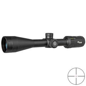 SIG Sauer WHISKEY3 3-9x50mm Rifle Scope Hellfire Quadplex Illuminated Reticle 1 Inch Tube .25 MOA Adjustment Matte Black Finish
