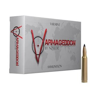Nosler Varmageddon .243 Winchester Ammunition 20 Rounds 55 Grain Tipped Flat Base 3800fps