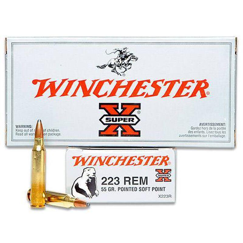 Winchester Super X .223 Remington Ammunition 20 Rounds, JSP, 55 Grains