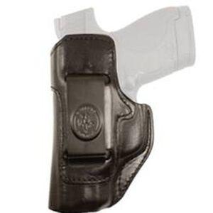DeSantis Inside Heat IWB Holster S&W M&P Shield 9/40 Left Hand Leather Black 127BBX7Z0