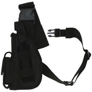 "Fox Outdoor SAS Tactical Leg Holster 4"" Left Hand Nylon Black 58-015"