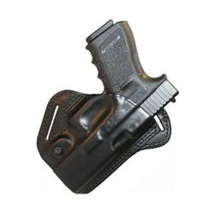 BLACKHAWK! CQC Check-Six Belt Holster For GLOCK 26/27/33 Right Hand Leather Black 420704BK-R