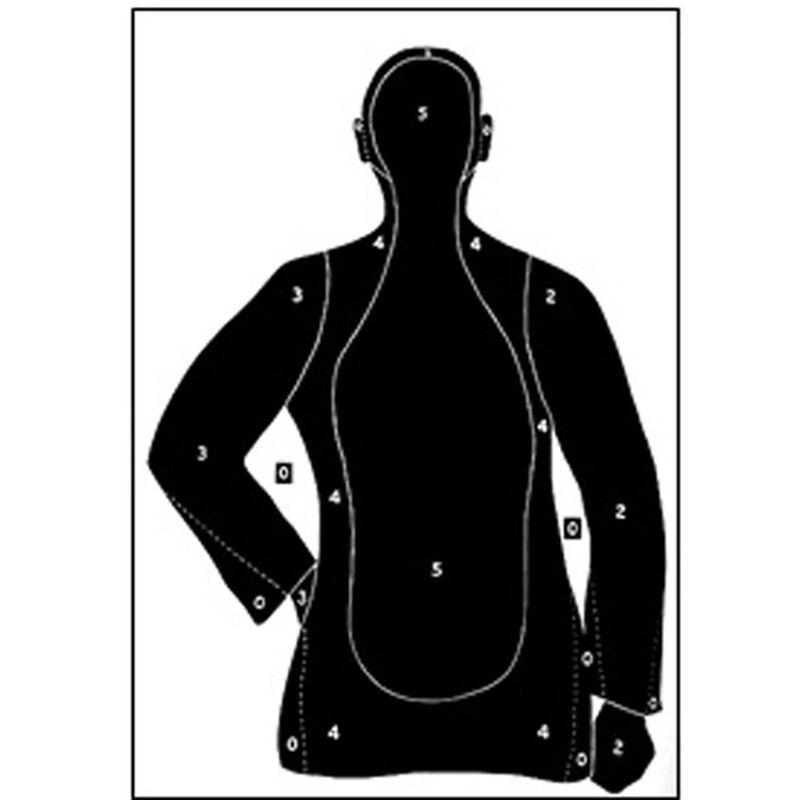 "Action Target B-21 Qualification Target 23"" x 35"" Paper Black 100 Pack"