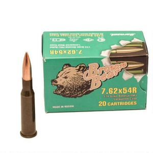 Brown Bear 7.62x54R 174 Grain Bi-Metal FMJ 20 Round Box