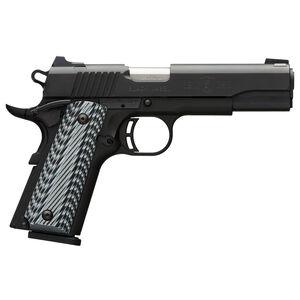 "Browning 1911-380 Black Label Pro Semi Auto Pistol .380 ACP 4.25"" Barrel 8 Rounds Composite Frame Accessory Rail G10 Grips Matte Black 051900492"