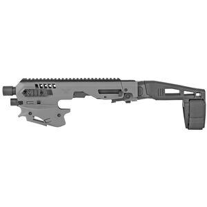 Command Arms CAA Micro Roni Standard Conversion Kit Fits GLOCK 17/19/45 Chassis Pistol Brace Polymer Tungsten Gray MCKTU