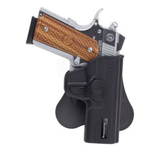 Bulldog Cases Rapid Release GLOCK 26,27,33 Paddle Holster Right Hand Polymer Black
