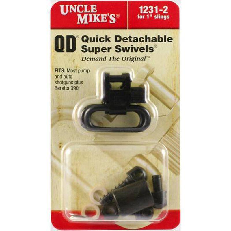"""Uncle Mike's Magnum Quick Detach 1"""" Super Swivels Metal Blued 1231-2"""