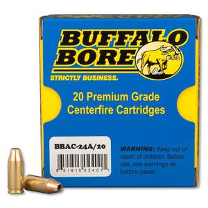 Buffalo Bore 9mm Luger +P+ 115gr JHP 1426 fps 20 Rounds