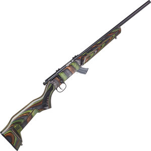 "Savage Mark II Minimalist .22 LR Bolt Action Rimfire Rifle 18"" Threaded Barrel 10 Rounds Green Minimalist Laminate Stock Black Finish"