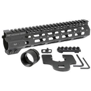 "Midwest Industries AR-15 Combat Rail 9.5"" One Piece Free Float Hand Guard M-LOK/Picatinny 6061 Aluminum Hard Coat Anodized Finish Matte Black"