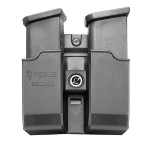 Fobus Double Magazine Pouch 9mm/.40 Double Stack Magazines Belt Attachment Ambidextrous Polymer Black