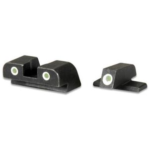 AmeriGlo Springfield XD Classic Tritium Night Sights Green Front Yellow Rear Black