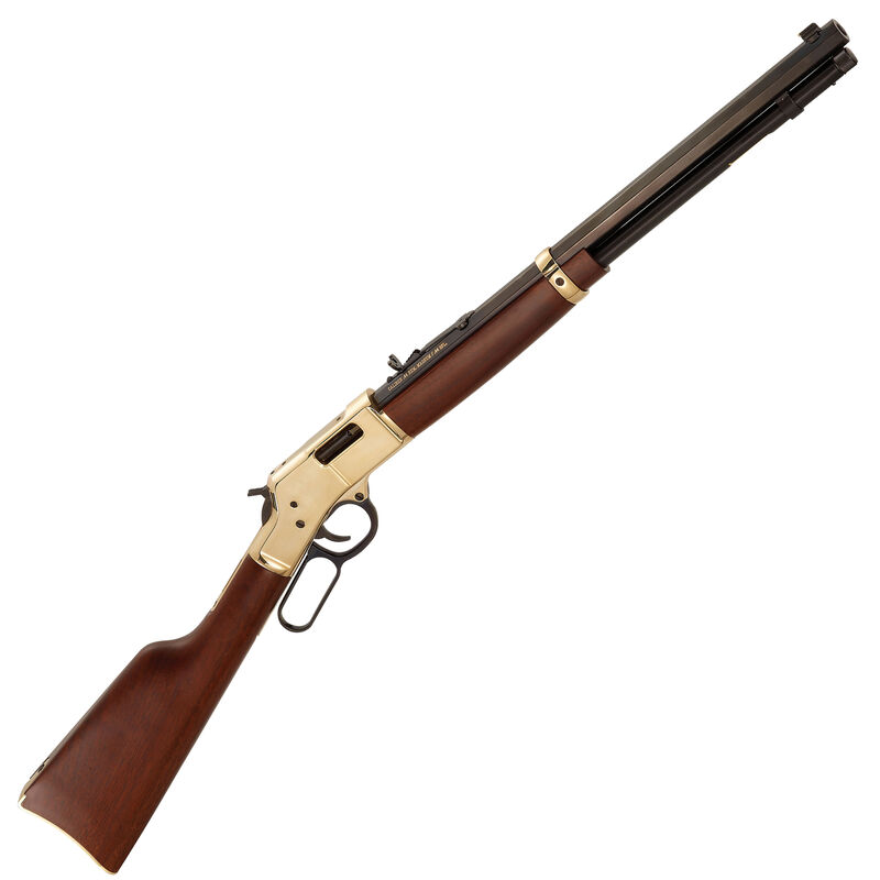 "Henry Big Boy Lever Action Rifle .357 Magnum/.38 Special 20"" Octagon Barrel 10 Rounds Polished Hardened Brass Receiver American Walnut Stock Blued Barrel"