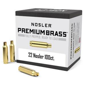 Nosler Premium Prepped Components .22 Nosler Unprimed Rifle Brass Cases 100 Count