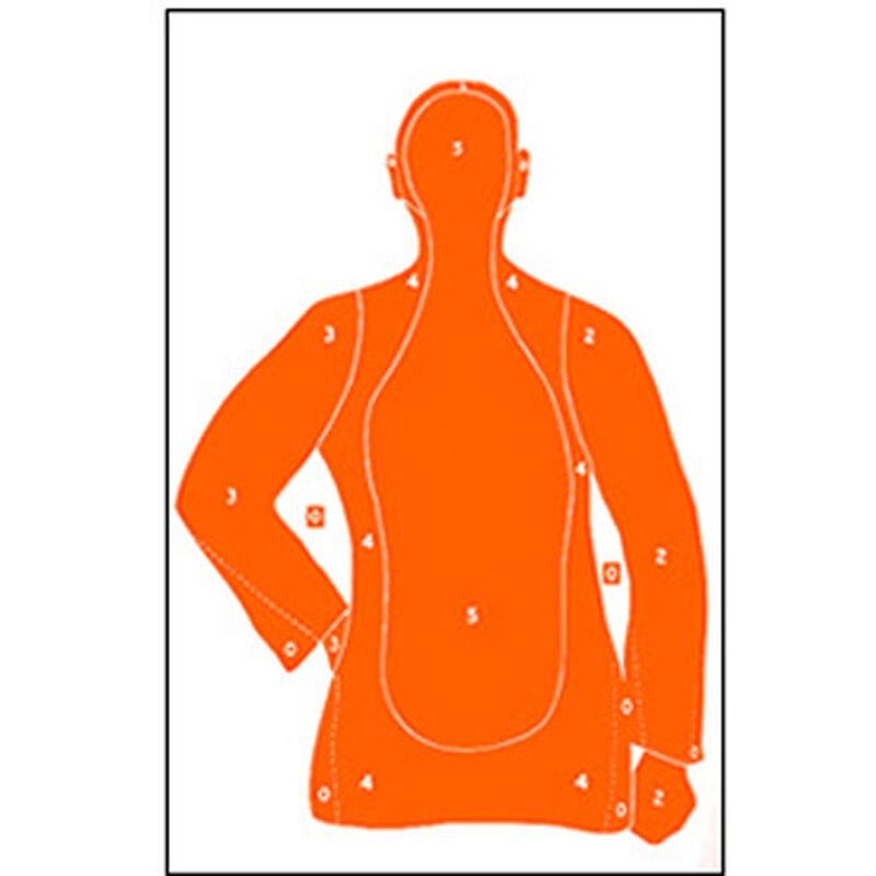 "Action Target B-21 Qualification Target 25 Yard 23"" x 35"" Paper Orange 100 Pack"