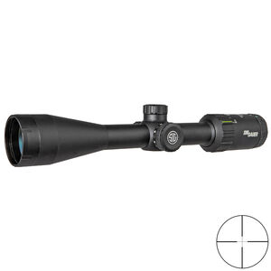 SIG Sauer WHISKEY3 3-9x40mm Rifle Scope Quadplex Reticle 1 Inch Tube .25 MOA Adjustment Matte Black Finish