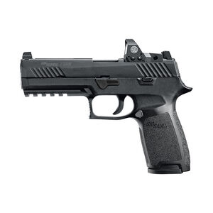 "SIG Sauer P320 Nitron RX Full Size Semi Auto Pistol 9mm Luger 4.7"" Barrel 17 Rounds SIGLITE Sights Romeo1 Reflex Red Dot Sight Modular Polymer Frame/Grip Matte Black Finish"