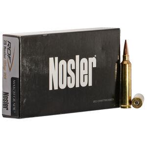 Nosler Match Grade 28 Nosler Ammunition 20 Rounds 185 Grains RDF HPBT Bullet 2950 fps