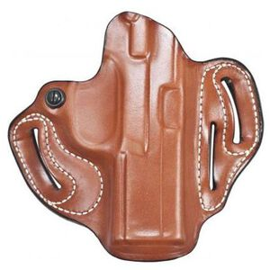 DeSantis 002 Speed Scabbard S&W M&P Shield 9mm/.40S&W Belt Holster Right Hand Leather Tan 002TAX7Z0