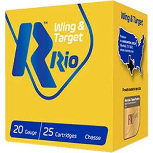 "RIO Ammunition Wing & Target 20 Gauge Ammunition 2-3/4"" Shell #7.5 Lead Shot 7/8oz 1250fps"
