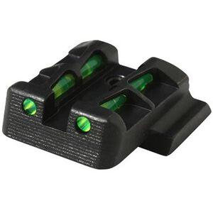 HiViz LITEWAVE Ruger LC9/LC380 Fiber Optic Rear Sight Red/Green/Black Steel Black LCLW11