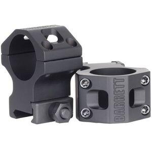 "Barrett Zero Gap 30mm Ultra High Rigid Scope Rings 1.4"" Crossbolt Picatinny Matte Black 13324"