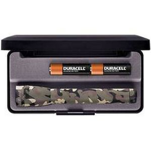 Maglite Mini Mag Flashlight 12 Lumen 2x AA Battery Nylon Sheath Aluminum Body Camo Finish Presentation Box M2A02L