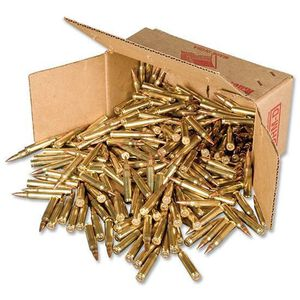 American Quality .223 Remington Ammunition 500 Rounds FMJ 55 Grain Winchester Brass