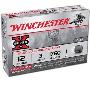"Winchester Super-X 12 Gauge 3"" 1 oz Rifled Slug 5 Round Box"